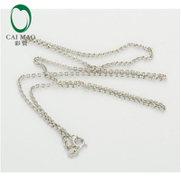 LADIES Solid 18k/750 White Gold Chain Necklace 18 ( ABOUT 45cm)