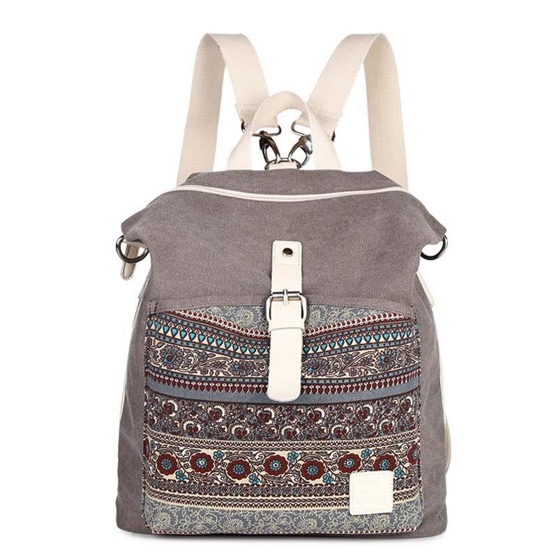 Top quality Women Canvas Backpack bookbag female dual purpose shoulder bag daily travel backpacks crossbody fashion student bags