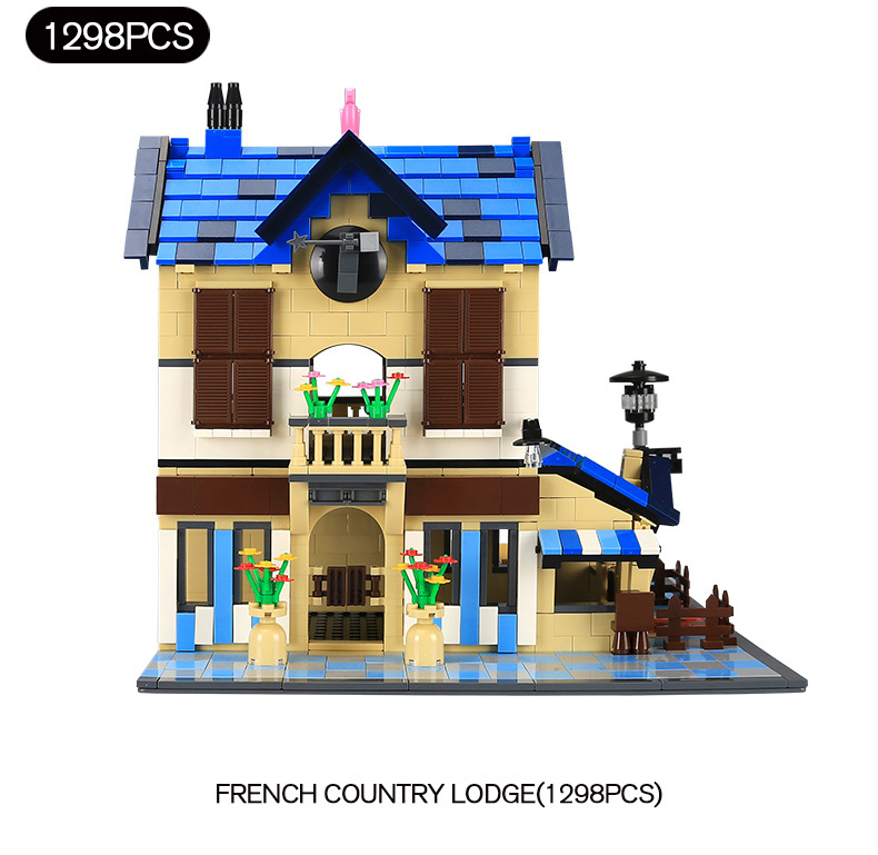 Classic architecture french country lodge building block assemblage model bricks toys collection for adult kids gifts духи french collection туалетная вода french collection versailes 15 мл