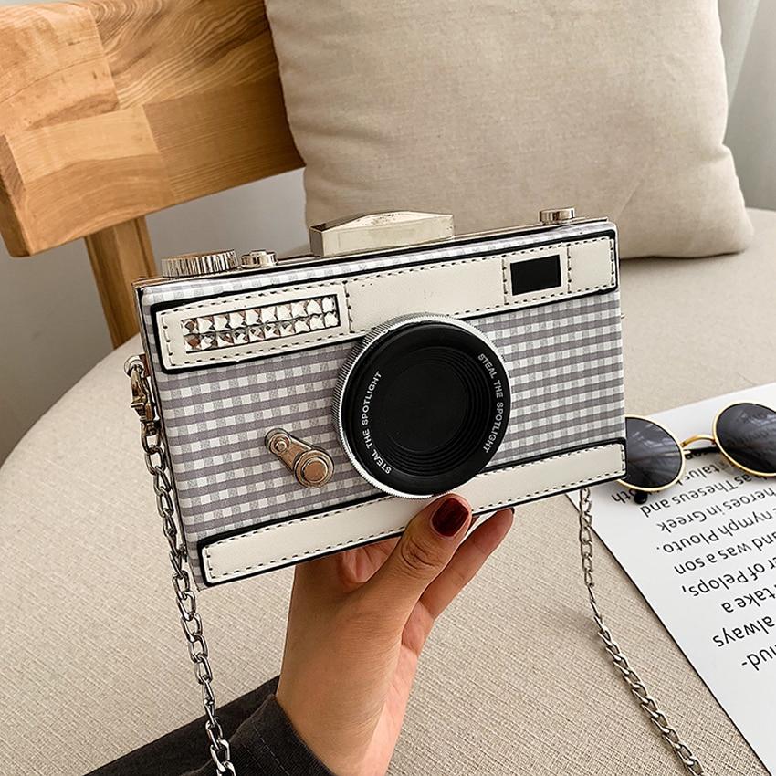 TOYOOSKY Personalized Design Fashion Camera Shape Clutch 2019 Summer new Shoulder Bag Ladies Casual Mini Messenger Bag Purse