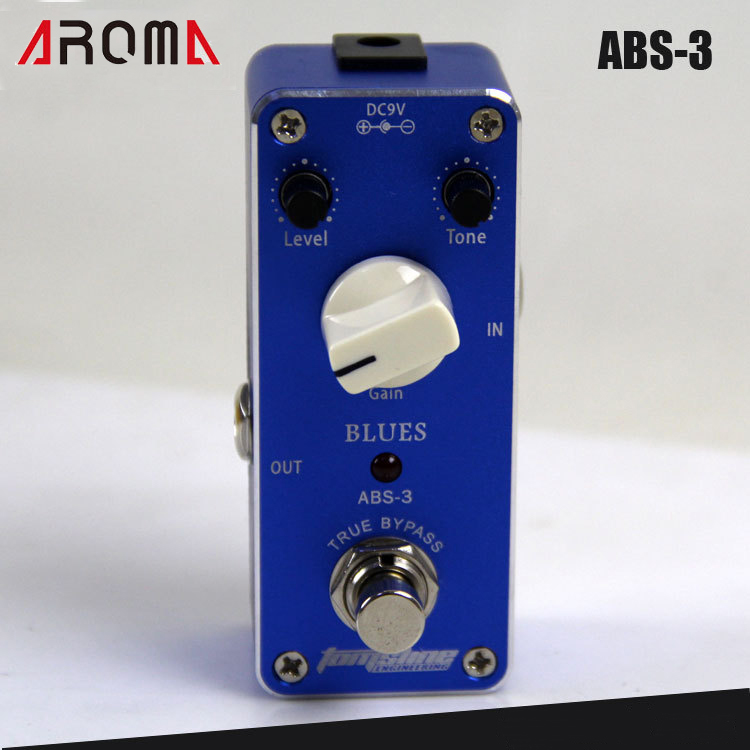 AROMA ABS-3 Blues Overdrive Effects Pedal with True Bypass Design гитарный комбоусилитель roland blues cube stage