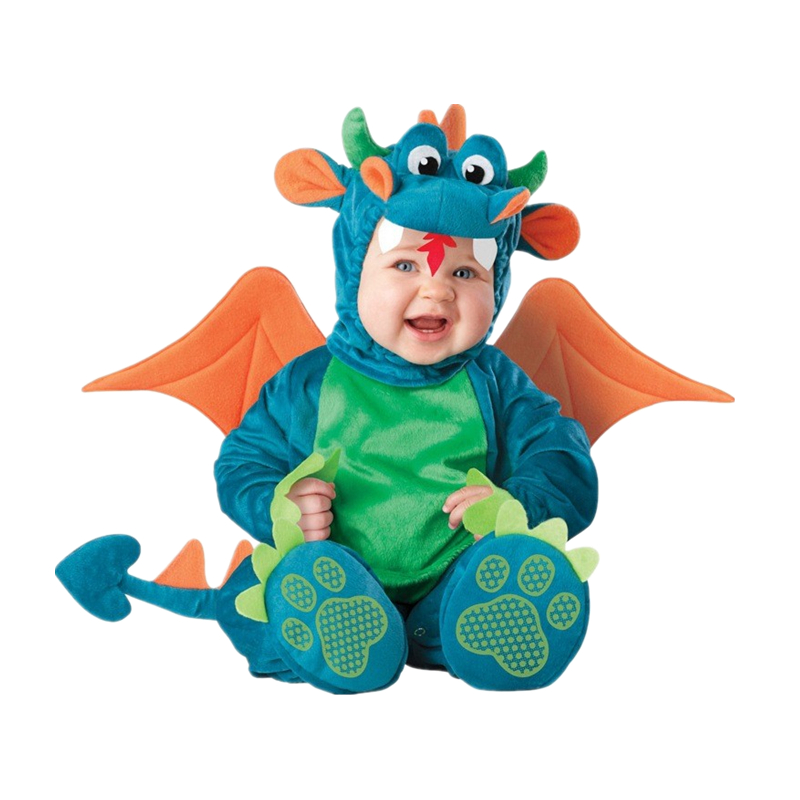 2017 New High Quality Baby Boys Girls Halloween Dinosaur Owl Costume Romper Kids Clothing Set Toddler Co-splay Triceratops