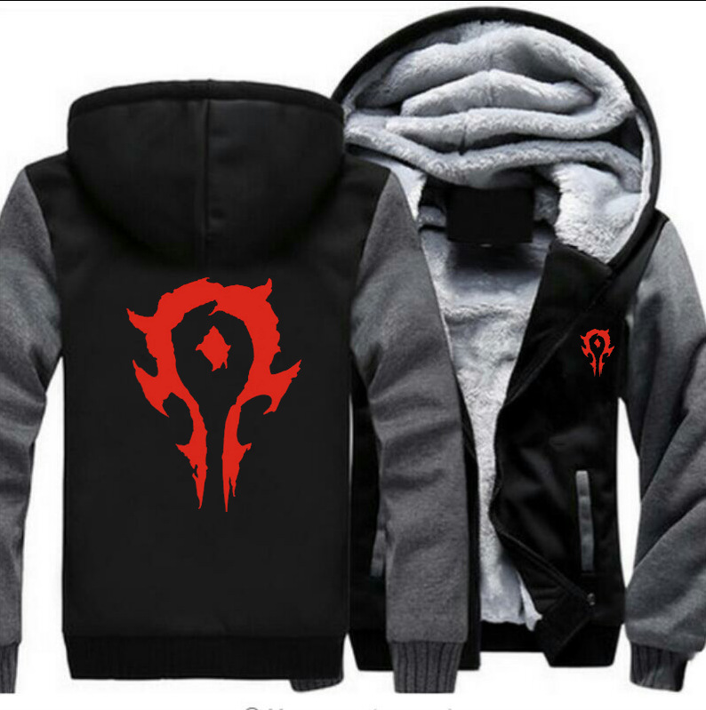 World of Warcraft World of Warcraft dota2 Menswear thickened jacket wow Horde Alliance Blizzard Game periphery