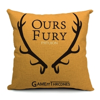Hot Sale Pillow Covers Song Of Ice And Fire Topic Pattern New Fashion 45X45CM Linen Pillow