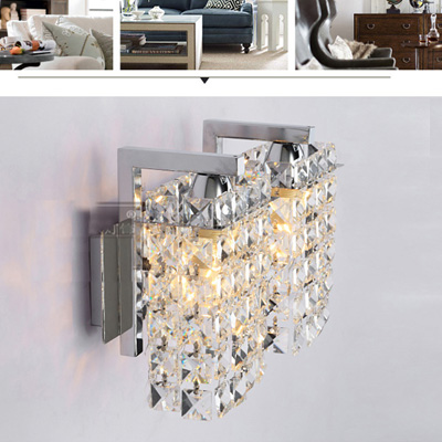 Double Crystal Wall Lamp Modern Bedroom Berth Lamp New Sitting Room Crystal Wall Lamp Corridor Corridor Lamp american rural wall lamp all copper bedroom berth lamp lens headlight corridor european contracted sitting room single head wal