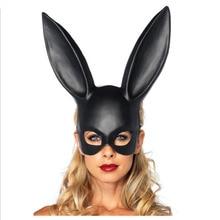 цена на Ladies Party Christmas Mask Bar KTV Club Halloween Masquerade Bunny Earmuffs Bunny