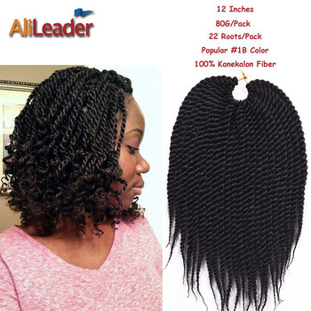 Crochet Box Braids Packs : Discount 12Inch 22Roots/Pack Crochet Twist Hair 80G/Pack Box Braids ...