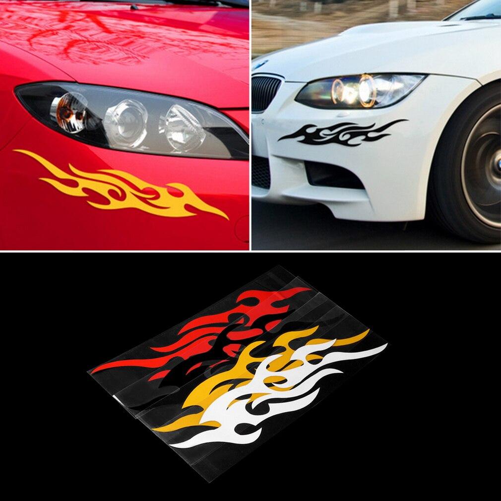 Pcs Cm X Cm Fire Flame Sticker Car Side Door Truck Bumper - Flame stikers for car