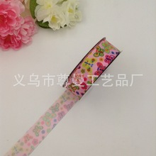 DIY Clothing Material Silk Bandwidth 2.5cm Digital Printing Thermal Transfer Sublimation Line Flower Butterfly Series Ribbon