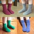 5 par/lote otoño e Invierno dulces de colores de algodón de alta calidad calcetines de los niños 1-9 años los niños calcetines de bebé niñas Calcetines Altos