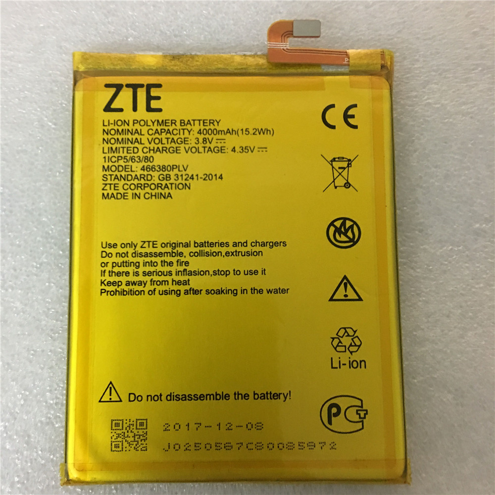 100% Original 3.8V 4000mAh 466380PLV For ZTE Blade A610 A610C A610T BA610C BA610T Battery