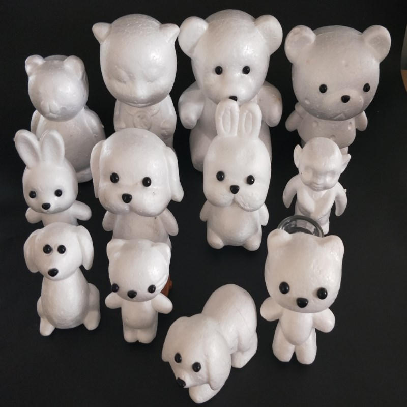 1 pcs model polystyrene foam animal white ball craft DIY decoration party supplies Valentine 39 s Day gift in Decorative Balls from Home amp Garden