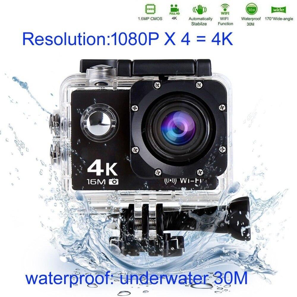 Trainshow moto DVR 4 K 16 M sport Action vidéo caméra voiture DVR Full HD 30 m étanche plongée WiFi télécommande casque
