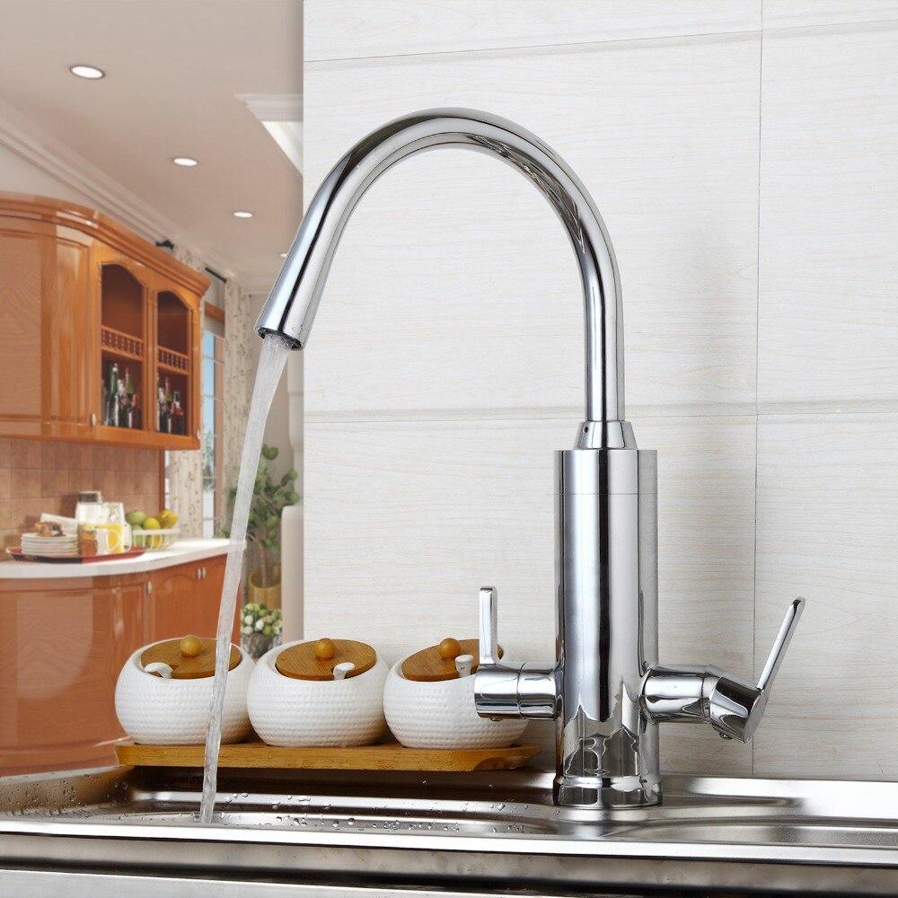 Water purifier Kitchen Faucet Solid Brass Kitchen Sink Faucet Kitchen Mixer 360 Degree Swivel Faucet Kitchen torneiras