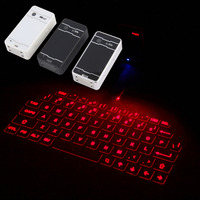 New White Wireless Bluetooth Laser Virtual Projection Keyboard For IPhone IPad Tablet Laptop Android Smart Phone