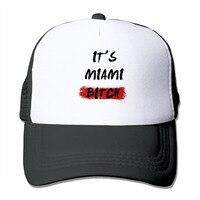 יוניסקס זה של מיאמי כלבה מגניב כובע נהג משאית רשת כובע בייסבול Snapback
