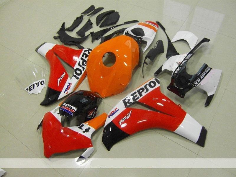 New ABS  Fairings For CBR1000RR CBR1000 CBR 1000 RR 2008 2009 2010 2011 ABS Injection Fairing Bodywork Kit Orange black red|Full Fairing Kits| |  - title=