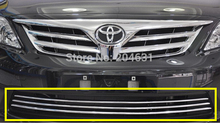 Stainless steel Front Grille Around Trim Front bumper Around Trim Racing Grills Trim for Toyota Corolla 2007-2010 Fast air free