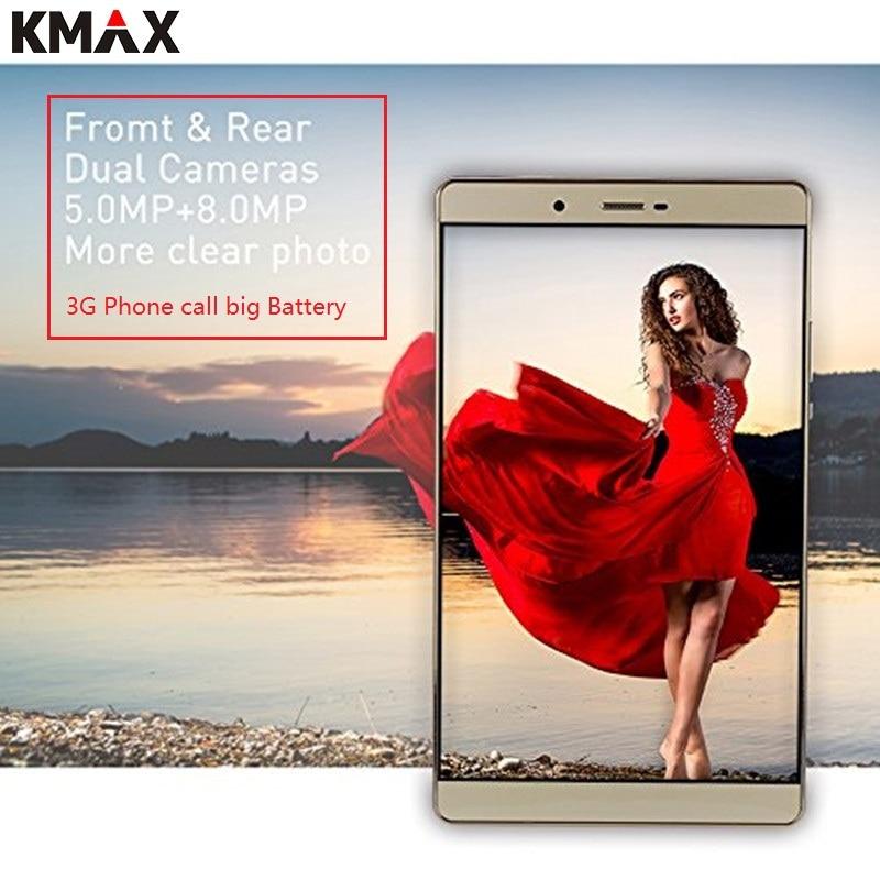 KMAX 8 pouces 3G téléphone appel Android tablette PC 16 GB carte SIM 32 GB TF Quad Core Wifi GPS bluetooth 8MP caméra tablettes 8 10 original