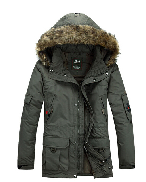Por la chaqueta larga, el otoño y el invierno genuino de la marca espesan abrigo / M-4XL