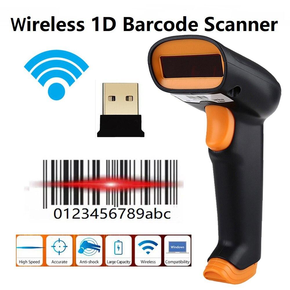 Nexan Netum Wireless 1D Barcode Scanner Cordless 1D Bar Code Reader Handheld 1D Barcode Reader
