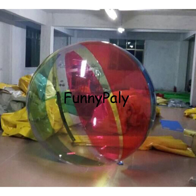 2M Colorful Water walking Ball, Inflatable Water  Ball,Walk on Water Balls 1.00mm Zorbing Huma festival dancing balls for show