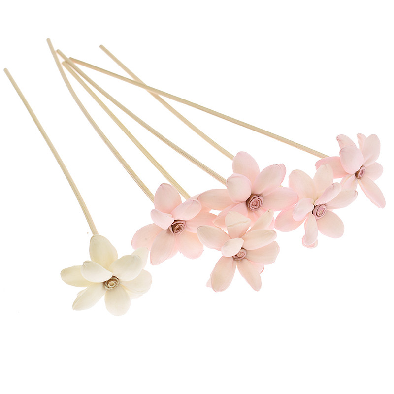 Lychee Life 5pcs Flower Rattan Reeds Fragrance Diffuser Non-fire Replacement Refill Sticks Home Living Room Aromatic Incense