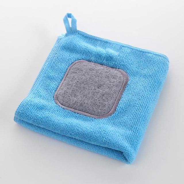 1PCKitchen Scouring Cloths Microfiber Wash Towel Cleaning Cloths Thicken Fiber Cloths Wiping Dust Rugs Manufacturer Scouring Pad