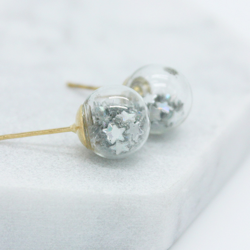 2018 new design fashion brand jewelry Christmas stud earrings for women lovely star handmade Glass beads statement gift earrings