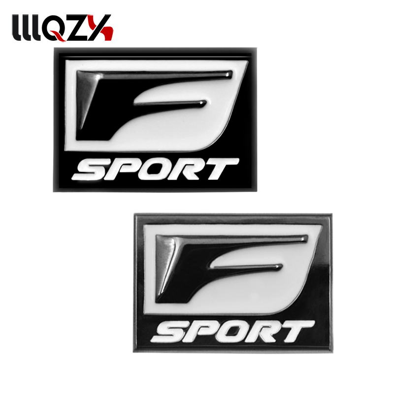 2pec/set F Sport Fsport Metal Emblem Badge Car Stickers rear Trunk Decals For Lexus RX ES IS IS200 IS300 RX330 RX350 Car Styling