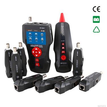 Free Shipping, Noyafa NF-8601W Lan Cable Tester With 8 Identifiers Poe /Ping/RJ45/Rj11 Cable Length Tester
