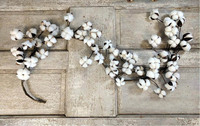 1.8 Meters Preserved White Cotton Cluster Garland For Christmas Holiday Party Birthday Wedding Venue Decoration