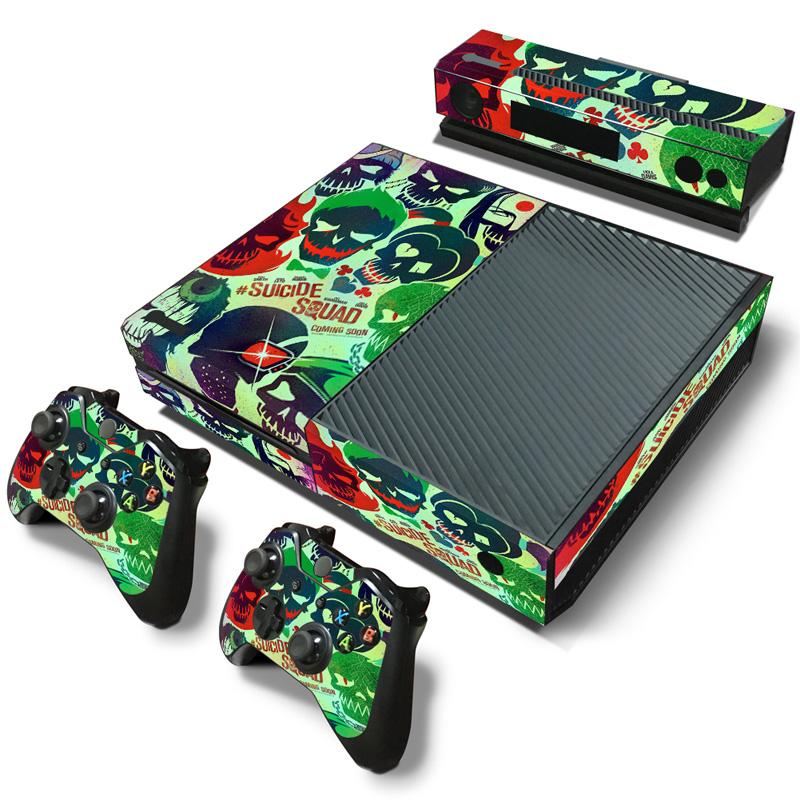 free drop shipping low price oem for xbox one skin sticker decal vinyl sticker customized skulls 2517