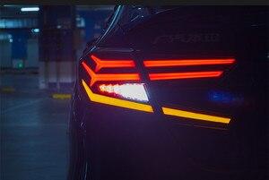 Auto led luz da cauda para 10th honda accord 2018 2019 luz traseira com movimento função da lâmpada de sinal freio