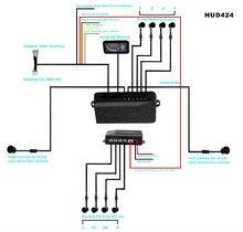 Парктроник 8 датчики бесшовные система парковки 2 слепой детектор + 5.5 HUD лобовое стекло экрана проектора OBD 2 + 4 датчик передняя/задняя