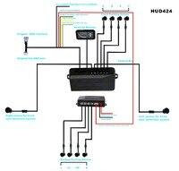 parktronic 8 sensors seamless parking system 2 blind detector+ 5.5 HUD screen windshield projector OBD 2+4 sensor front / back
