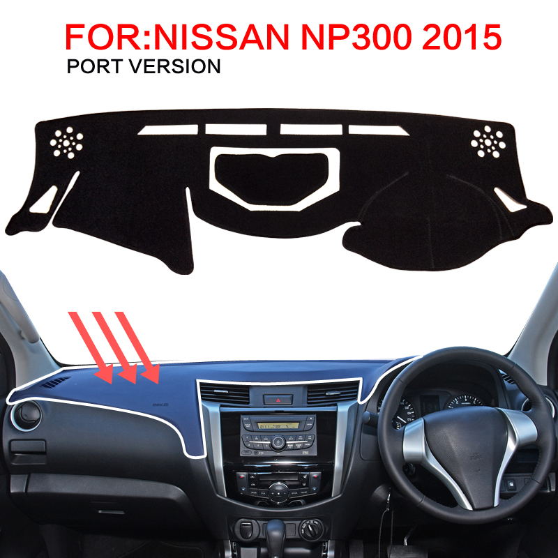 smabee For Nissan Navara NP300 D23 2015-2016 Dash Mat Dashmat Black Carpet Car Dashboard Sunscreen insulation dashmat original dashboard cover buick skyhawk