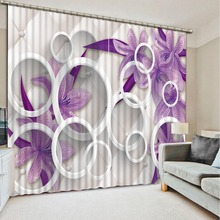 kitchen window curtains customize blackout curtains for living room 3d stereoscopic Simple circle kitchen curtains drapes