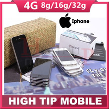 Free gift! 100% Factory Original Unlocked Apple iphone 4G 8GB/16GB/32GB Cell phone 3.5 inch GPS WIFI 5MP 1 year warranty