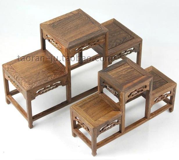 Dubbo wengué marco de madera * estante * jade piedra tetera de la ...