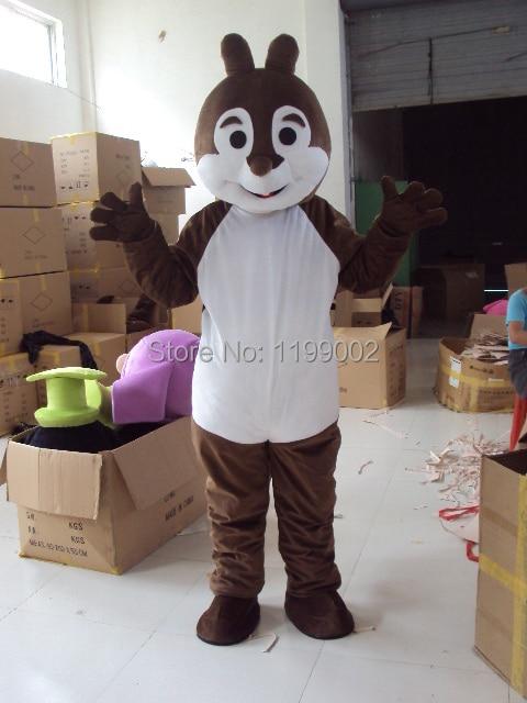 Taille de costume de mascotte de bande dessinée d'écureuil gris d'halloween de haute qualité pour Halloween