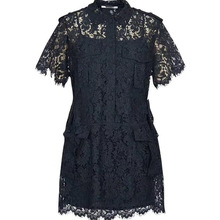 Новая летняя мода с открытой спиной, винтажное платье офисное кружевное платье красивые элегантные прямые платья для женщин