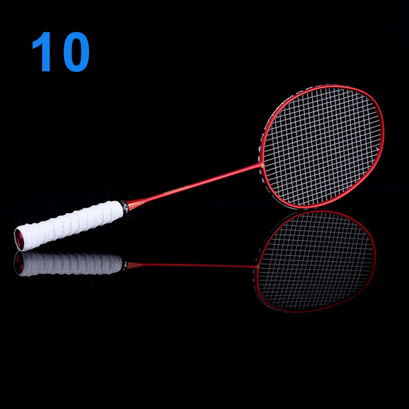 Newly Ultralight 6U Badminton Racket Professional Carbon Portable Free Grips Sports BFE88