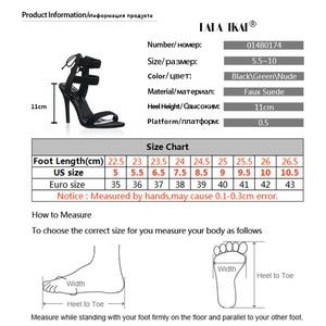 Image 5 - LALA IKAI Women Ankle Strap Sandals Fashion High Heels Sandal Summer Weaving Thin Heels Women Pumps Shoes Ladies 014B0174  4