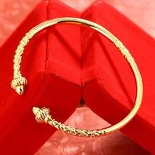 Мужские и женские манжеты желтое золото заполненные новейшими