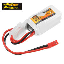 Isi Ulang Original Baterai Lipo Zop Power 7.4 V 350 M Ah 70C 2 S Lipo Battery JST Plug untuk RC FPV racing Drone Model Aksesoris(China)