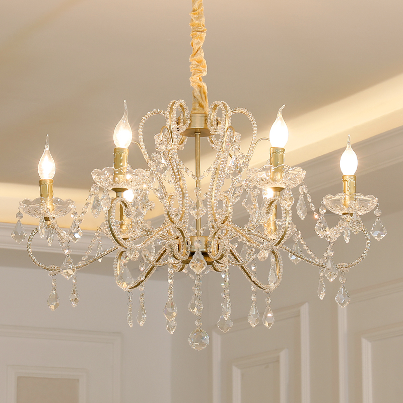 American Crystal Chandelier Living Room Bedroom lamps Dining Room Luxurious French Style European Crystal Chandeliers