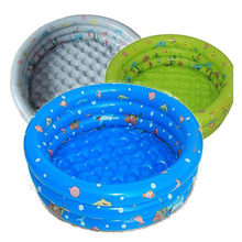 New Arrival 80*28cm Baby Kid Inflatable Round Small Swimming Pool Child Plastic Swimming Pools Inflatable Piscina Toy(China)
