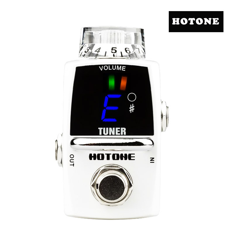 Hotone STU-1 Tuner Mini Tuner for Clean Boost Electric Guitar Pedal Free Shipping hotone brand soul press wah volume expression crybaby pedal electric guitar pedal free shipping