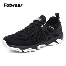 Fotwear Men mesh Low-profile hiker shoes Non-leather Casual Lightweight Shoes 360 degree climate comfort Abrasion-resistant